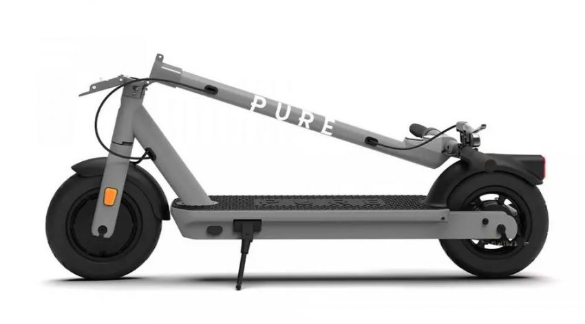 pure-air-pro-electric-scooter folded