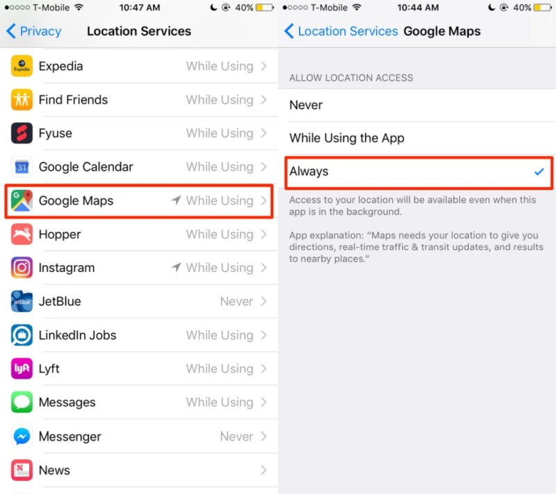 Google Maps share location Always | TechBuyGuide