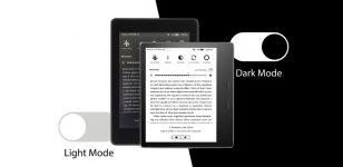 Kindle dark mode header