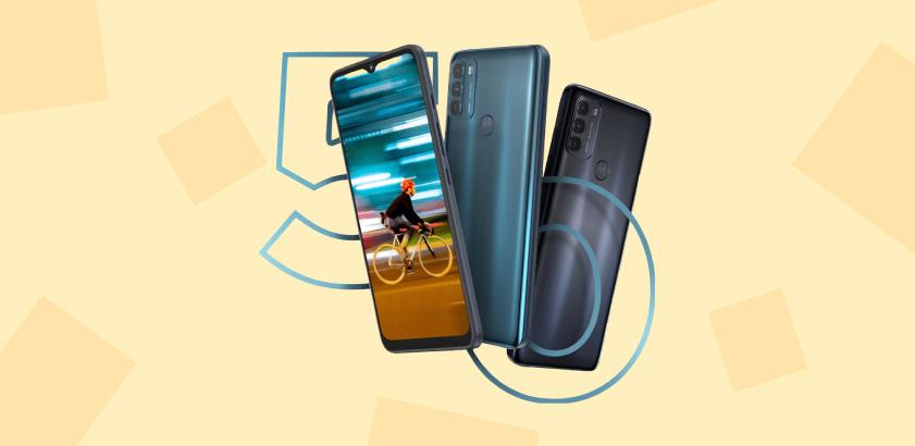 Motorola Moto G50, phone blue, black, Motorola, Moto G