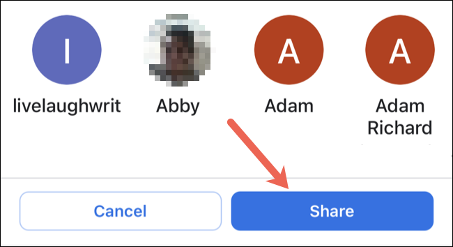 Select contact share Google Maps | TechBuyGuide