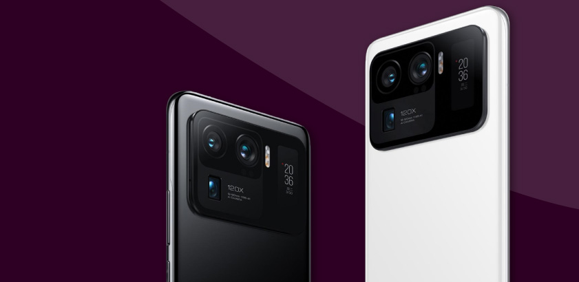 Xiaomi Mi 11 Ultra, 2 phones, black and white phone, Xiaomi, camera phone