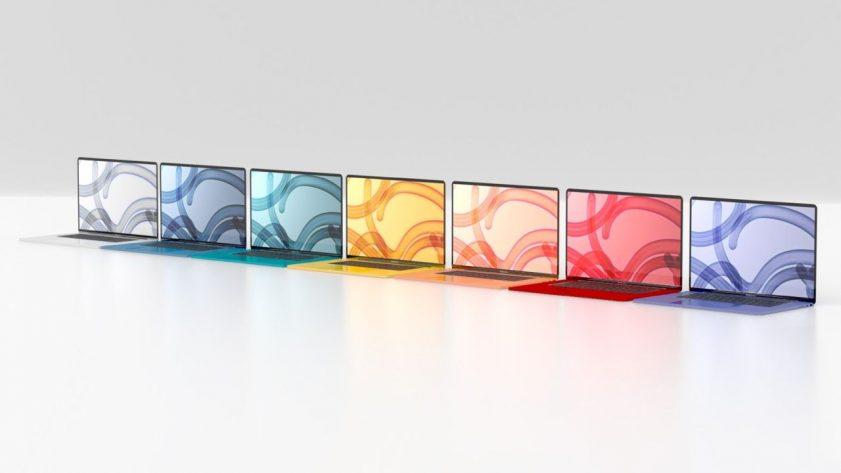 Macbook Air render, colours
