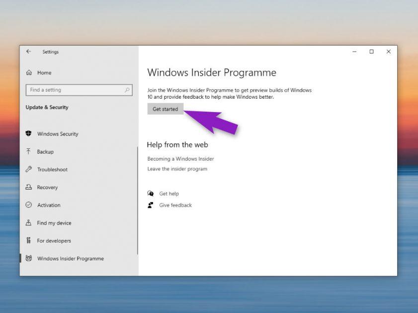 windows insider program start   TechBuyGuide